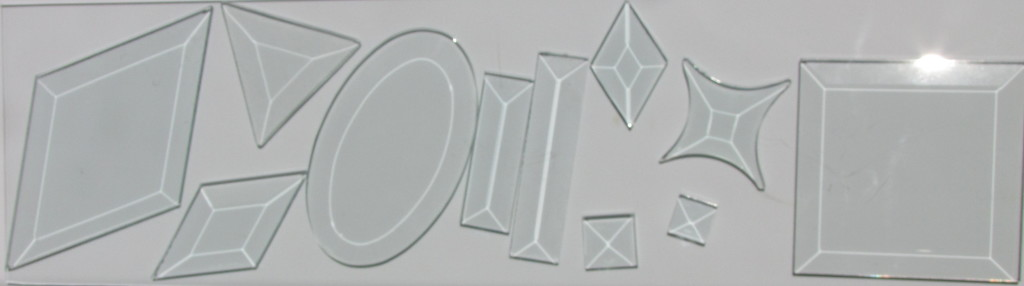 Glass bevels in a variety of shapes
