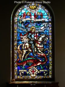 Relocated and restored heritage stained glass