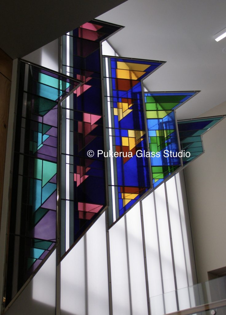 Architectural Stained Glass in Steel Frames