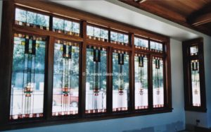 Stained glass windows in house